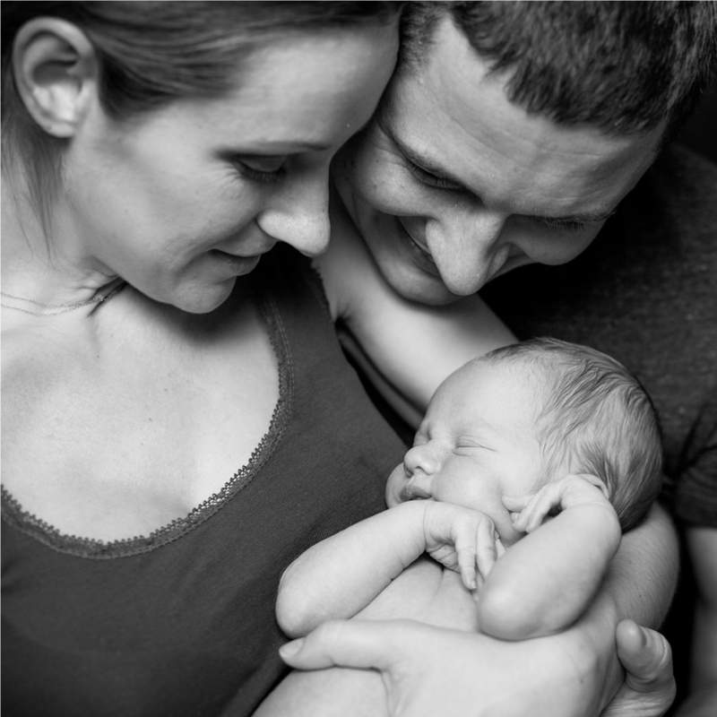 Parents with new born child